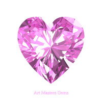 Art Masters Gems Standard 3.0 Ct Heart Light Pink Sapphire Created Gemstone HCG300-LPS