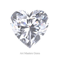 Art Masters Gems Standard 3.0 Ct Heart White Sapphire Created Gemstone HCG300-WS