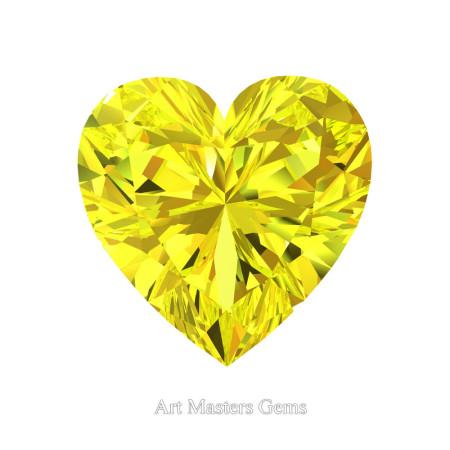Art-Masters-Gems-Standard-3-0-0-Carat-Heart-Cut-Yellow-Sapphire-Created-Gemstone-HCG300-YS-T