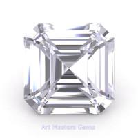 Art Masters Gems Standard 4.0 Ct Asscher White Sapphire Created Gemstone ACG400-WS