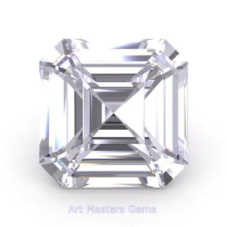 Art-Masters-Gems-Standard-4-0-0-Carat-Asscher-Cut-White-Sapphire-Created-Gemstone-RACG400-WS-T