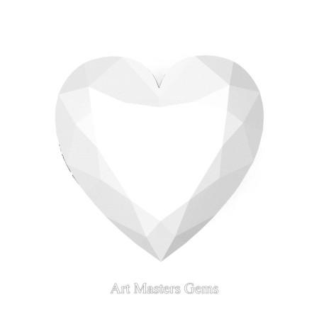 Art-Masters-Gems-Standard-5-0-0-Carat-Heart-Cut-White-Agate-Natural-Gemstone-HNG500-WA