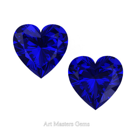 Art-Masters-Gems-Standard-Set-of-Two-0-7-5-Carat-Heart-Cut-Blue-Sapphire-Created-Gemstones-HCG075S-BS-T