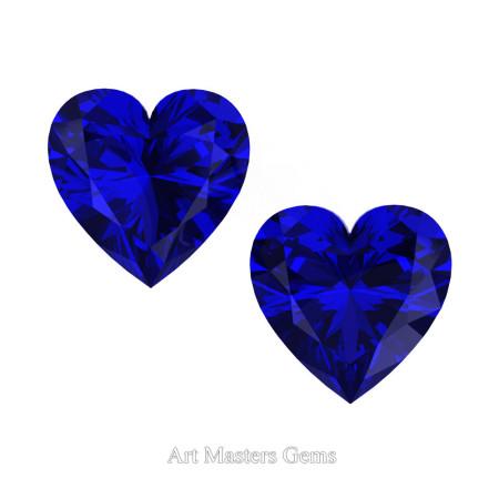 Art-Masters-Gems-Standard-Set-of-Two-1-0-0-Carat-Heart-Cut-Blue-Sapphire-Created-Gemstones-HCG100S-BS-T