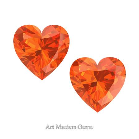 Art-Masters-Gems-Standard-Set-of-Two-1-0-0-Carat-Heart-Cut-Orange-Sapphire-Created-Gemstones-HCG100S-OS-T