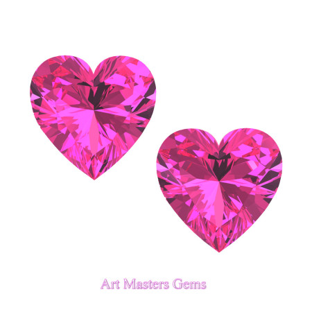 Art-Masters-Gems-Standard-Set-of-Two-1-0-0-Carat-Heart-Cut-Pink-Sapphire-Created-Gemstones-HCG100S-PS-T