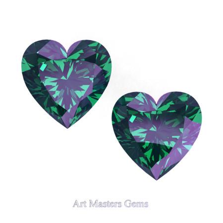 Art-Masters-Gems-Standard-Set-of-Two-1-0-0-Carat-Heart-Cut-Russian-Alexandrite-Created-Gemstones-HCG100S-RAL-T