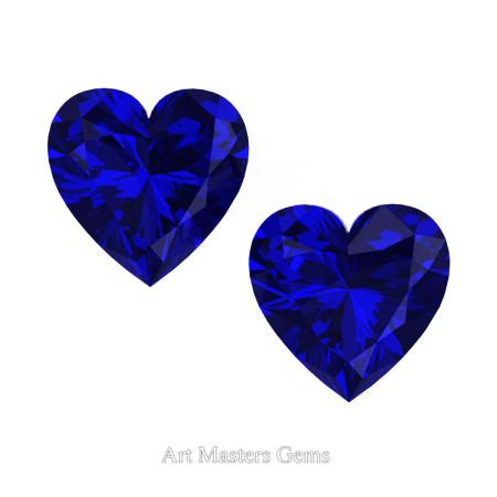 Art-Masters-Gems-Standard-Set-of-Two-1-5-0-Carat-Heart-Cut-Blue-Sapphire-Created-Gemstones-HCG150S-BS-T