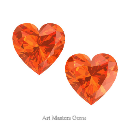 Art-Masters-Gems-Standard-Set-of-Two-1-5-0-Carat-Heart-Cut-Orange-Sapphire-Created-Gemstones-HCG150S-OS-T