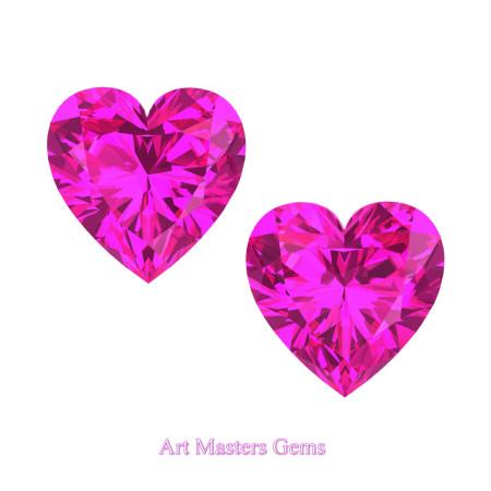 Art-Masters-Gems-Standard-Set-of-Two-2-0-0-Carat-Heart-Cut-Pink-Sapphire-Created-Gemstones-HCG200S-PS-T