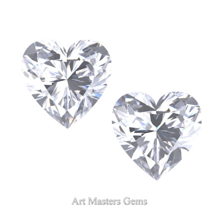 Art-Masters-Gems-Standard-Set-of-Two-2-0-0-Carat-Heart-Cut-White-Sapphire-Created-Gemstones-HCG200S-WS-T
