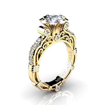 Art-Masters-Michelangelo-14K-Yellow-Gold-1-Carat-Certified-VVS-Diamond-Engagement-Ring-R723-14KYGCVVSD-P