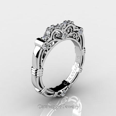 Art-Masters-Caravaggio-14K-White-Gold-Diamond-Wedding-Band-R623B-14KWGD-P