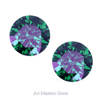 Art Masters Gems Set of Two Standard 1.25 Ct Russian Alexandrite Gemstones RCG125S-RAL