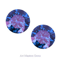 Art Masters Gems Set of Two Standard 2.5 Ct Alexandrite Gemstones RCG250S-AL