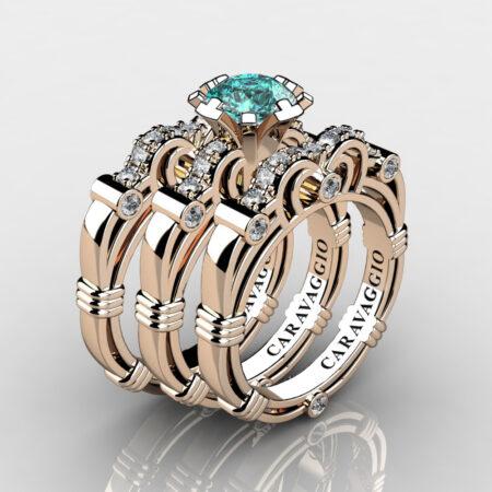 Art-Masters-Caravaggio-Trio-14K-Rose-Gold-1-Carat-Blue-and-White-Diamond-Engagement-Ring-Wedding-Band-Set-R623S3-14KRGDBLD-P