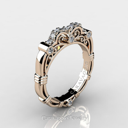 Art-Masters-Caravaggio-14K-Rose-Gold-Diamond-Wedding-Band-R623B-14KRGD-P