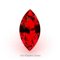 Art Masters Gems Standard 0.5 Ct Marquise Ruby Created Gemstone MCG050-R