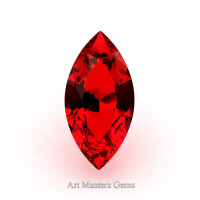 Art Masters Gems Standard 0.75 Ct Marquise Ruby Created Gemstone MCG075-R