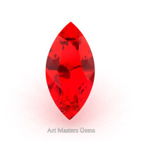 Art Masters Gems Standard 1.25 Ct Marquise Ruby Created Gemstone MCG125-R