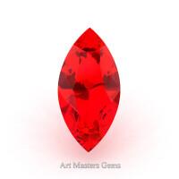 Art Masters Gems Standard 1.25 Ct Marquise Ruby Created Gemstone MCG125-R