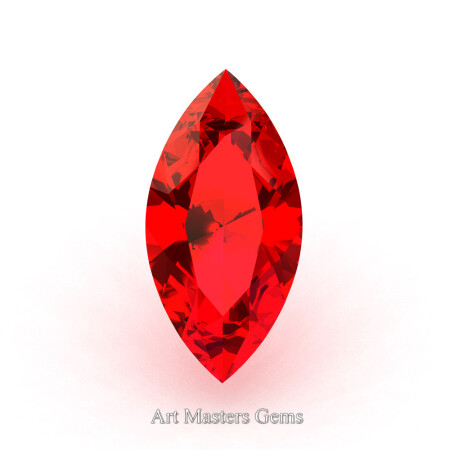 Art-Masters-Gems-Calibrated-1-5-0-Ct-Marquise-Fire-Ruby-Created-Gemstone-RMCG0150-FR