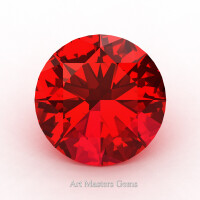 Art Masters Gems Calibrated 1.25 Ct Round Ruby Created Gemstone RCG0125-R