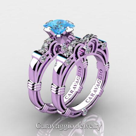 Art-Masters-Caravaggio-14K-Lilac-Gold-1-25-Carat-Princess-Blue-Topaz-Diamond-Engagement-Ring-Wedding-Band-Set-R623PS-14KLGDBT-P