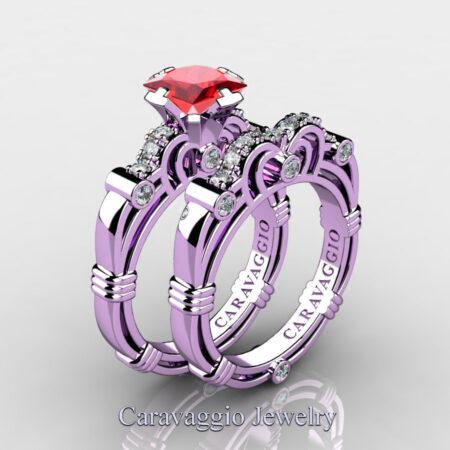 Art-Masters-Caravaggio-14K-Lilac-Gold-1-25-Carat-Princess-Ruby-Diamond-Engagement-Ring-Wedding-Band-Set-R623PS-14KLGDR-P