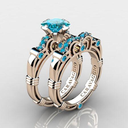 Art-Masters-Caravaggio-Rose-Gold-Vermeil-1-25-Carat-Princess-Blue-Diamond-Engagement-Ring-Wedding-Band-Set-R623PS-RGVBLD-P