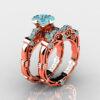 Art-Masters-Caravaggio-Rose-Gold-Vermeil-1-25-Carat-Princess-Blue-Diamond-Engagement-Ring-Wedding-Band-Set-R623PS-RGVBLD-P2